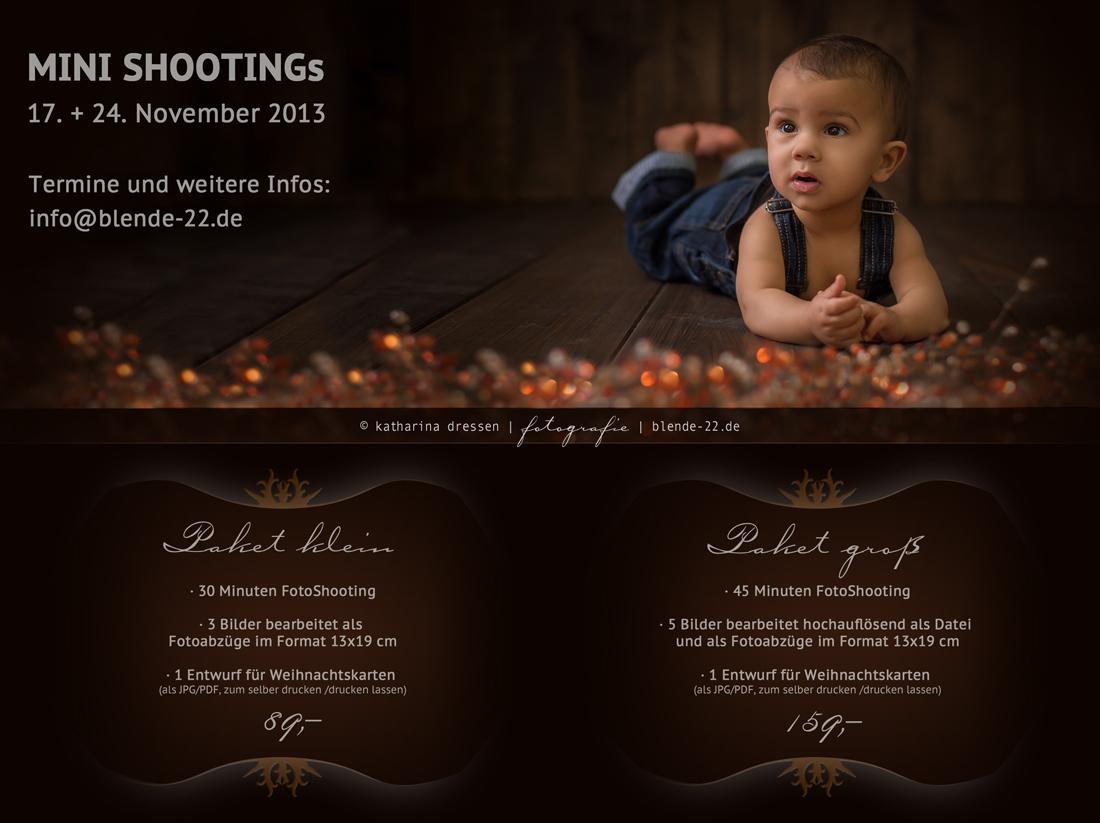 Mini-Foto-Shootings zu Weihnachten